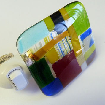 Fun Colorful  Night light fused glass