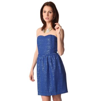 Electric blue party dress