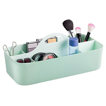 mDesign Cosmetic Organizer and Makeup Tote Caddy - Large, Mint
