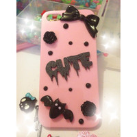 Cute and creepy pastel goth iphone5 case