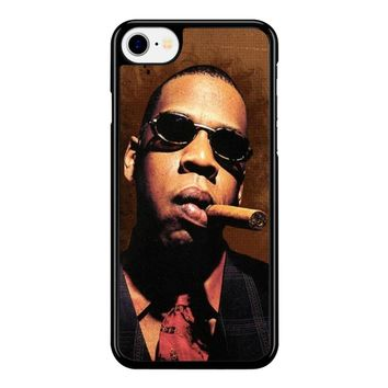 Jay-Z Cigar Glasses Tie Vest 01  iPhone 8 Case