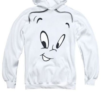 Adult Casper The Ghost Face Pullover Hoodie