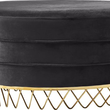 Revolve Grey Velvet Ottoman/Coffee Table