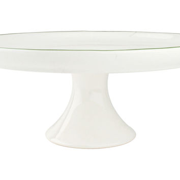 "11.5"" Abbesses Cake Stand, Green, Cake Stands & Tiered Trays"