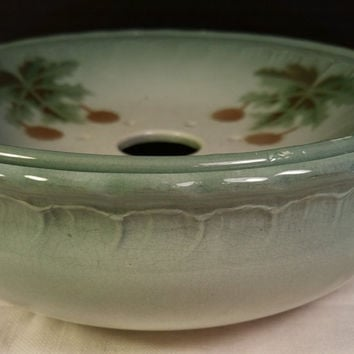 Choisy le Roi Covered Serving Bowl Lid with Steam Holes Green Lidded Casserole Dish French Covered Casserole Dish