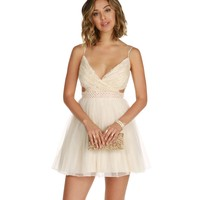 Tina-Ivory Homecoming Dress