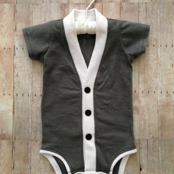 Cardigan Onesuit: Gray (Cardigan Only)