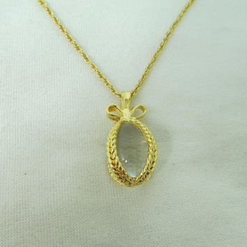 JOAN RIVERS Glass Egg Necklace