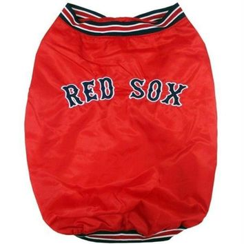 DCCKT9W Boston Red Sox Pet Dugout Jacket