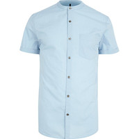 River Island MensLight blue grandad shirt