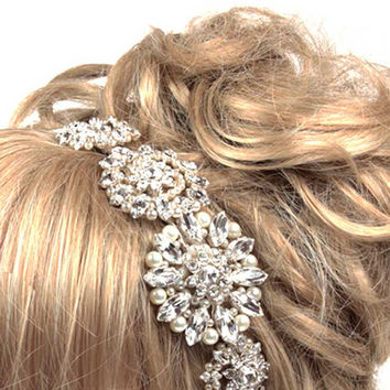 Wedding Side Tiara, Vintage Sideband, Bridal Headdress, Wedding Tiaras, Bridal Tiaras