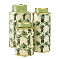 Porcelain Jar Set | Eichholtz Pineapple