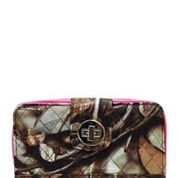 Quilted Wallet Camo Print