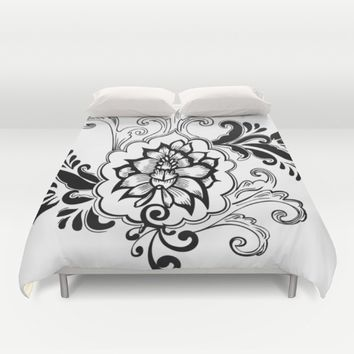 Floral Design Duvet Cover by mayanova17