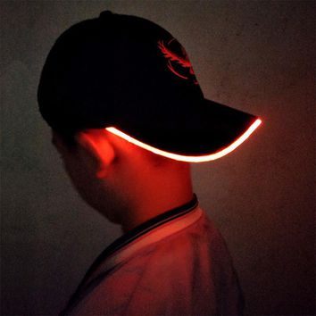 LED Light Pokemon Go Baseball Cap - Choose Team - Hats Glow In The Dark