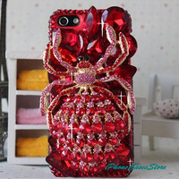 iphone 4 case iphone 5 case swarovski crystal by iPhoneCasesStore