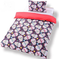 Sugar Skull Bedding Duvet Cover Set Twin Full Queen King