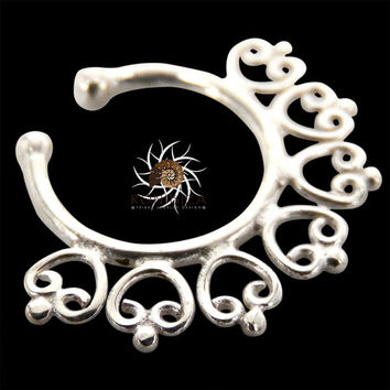 Fake Septum Ring - Faux Septum Ring - Fake Piercing - Clip On Piercing - Clip On Septum - Septum Jewelry - Septum Cuff - Nose Jewelry SF29S