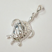 Sterling Silver Sea Turtle Pendant Charm