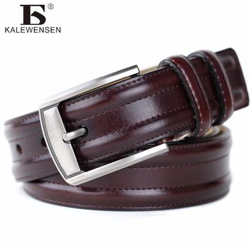 Cinto masculino 2017 designer high quality luxury brand genuine leather pin buckle belts for men casual business men belts 4012A