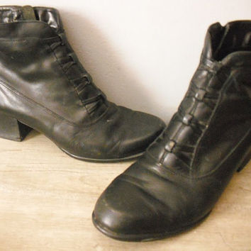 vintage Croft and Barrow Lack leather boots ... Ankle boots womens Size 6 Indie Hipster Nice