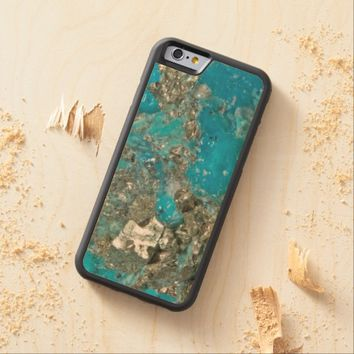 Natural Luxury Gemstone Turquoise Jewellery Carved® Maple iPhone 6 Bumper Case