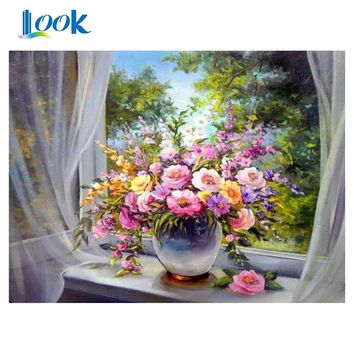 painting by numbers Digital flowers canvas picture abstract paintings by numbers on canvas paint by numbers wall art home decor