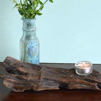 Small  Divine Driftwood Candle Holder is the perfect size for the coffee or bedside table
