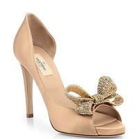 Jewelry Couture Satin d'Orsay Pumps