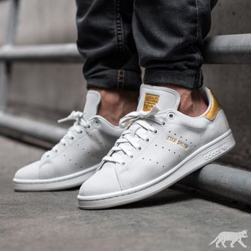 Adidas Originals Stan Smith ROD LAVER Gold Shoes Gold Tail