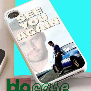See You Again Paul Walker Wiz Khalifa For Iphone 4/4s, iPhone 5/5s, iPhone 5C, iphone 6, and iPhone 6 Plus Case