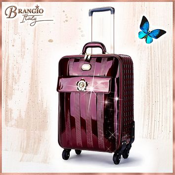 Floral Accent Light Weight Spinner Luggage for the American Tourister