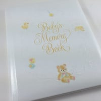 Vintage Baby Album Baby Memory Book First Seven Years Keepsake Book Unused 1980s Baby Scrapbook Baby Shower Gift