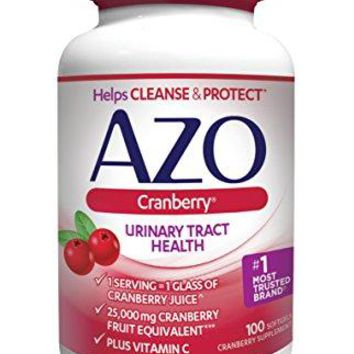 [Pack of 2] AZO Cranberry Urinary Tract Health Dietary Supplement* – 1 Serving = 1 Glass of Cranberry Juice^ - Helps Maintain...