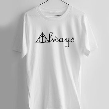 Always Deathly Hallows Symbols Harry Potter T-shirt Men, Women and Youth