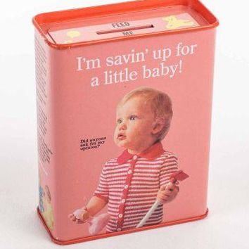 Savin Up For A Little Baby Tin Bank