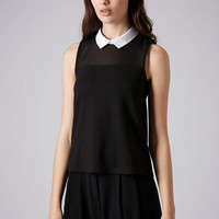Collar Top - Topshop