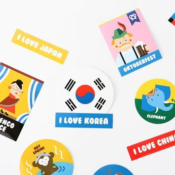 On The Road Sticker Set