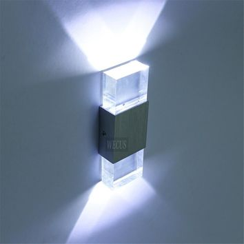 Quality assurance acrylic block wall lamp LED wall lamp. AC90-265V 2W