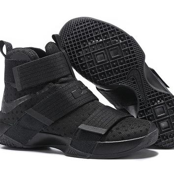 HCXX Nike Men's Lebron Soldier 10 Basketball Shoes Black 40-46