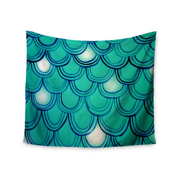 "Theresa Giolzetti ""Mermaid Tail"" Teal Blue Wall Tapestry"