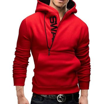 2017 New Fashion Slim Fit Casual Autumn & Winter Zipper Hoodies Men,Long Sleeved Pullover Sweatshirt Five Colors Men hoodies,W03