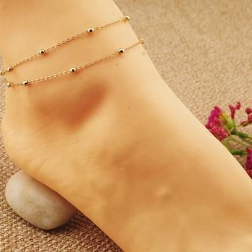 Anklets for Women Chain Double Bracelets For Ankle
