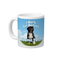 I Bark for Barack, Bo the First Dog Obama Extra Large Mugs from Zazzle.com