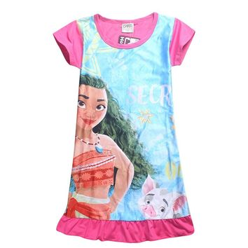 Moana Dress Children Clothing Summer Dresses Girls Baby Pajamas Costume Princess Nightgown Vestidos Infantis Clothes