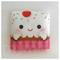 Decorative Mini Pillow,  Kawaii Toy Pillow - Yummy Cupcake