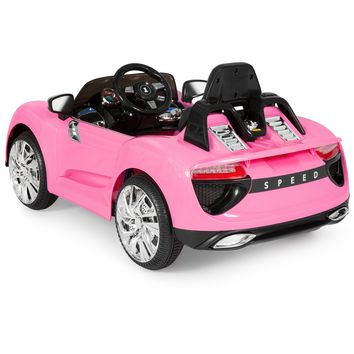 Best Choice Products 12V Kids Battery Powered Remote Control Electric RC Ride-On Car w/ MP3 and AUX - Pink