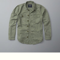 Military Button-Up Shirt