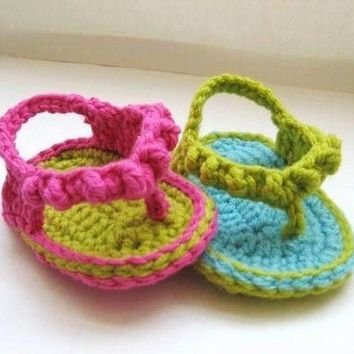 Crochet Pattern Baby Booties Flip Flops by CrochetBabyBoutique