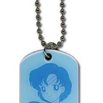 Sailor Moon Sailor Mercury Dog Tag Necklace